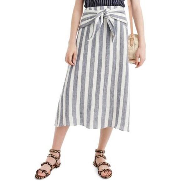 c43ac36538df J. Crew Skirts | Nwt J Crew Womens Point Sur Tiewaist Linen Skirt ...